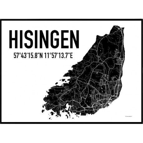 Hisingen Karta Poster Kop Stadskartor Varldskartor Usa Kartor