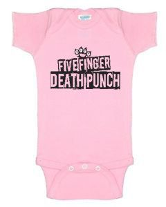 b266dfe5a Five Finger Death Punch Baby Onesie by SpoiledRottenApparel ...
