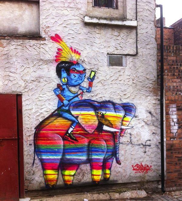 Street  Art em Liverpool (Elephant) by  Cranio -  2013