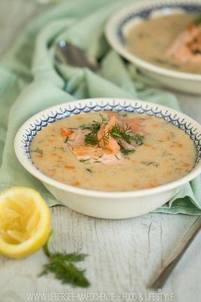 Cremige Fischsuppe mit Lachs und Lachsforelle | ÜberSee-Mädchen