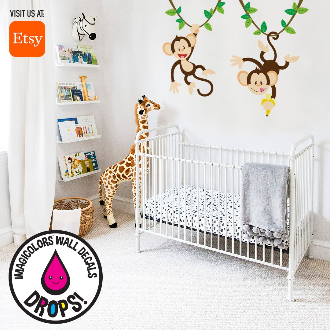 A trend that is becoming really popular is that babies can get their own room instead of having a crib in the parent's room. Decorating the room in a playful, colorful and comfortable way is very good for the baby! Our wall decals are a good match for that! Visit our website at www.imagicolors.com to check them out!  #imagicolors #walldecals #decals #wallpaper #walldecor #customdecals #kidsdecor #kidsroom #kidsroomdecor #personalize #imagination #creative #etsy #etsyshop #etsyseller