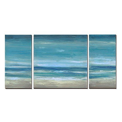 Cubism3 Panels Seascape Ocean Canvas Prints Landscape Pictures Paintings Canvas Wall Art Sea Beach Picture Ocean Canvas Abstract Canvas Wall Art Ocean Wall Art