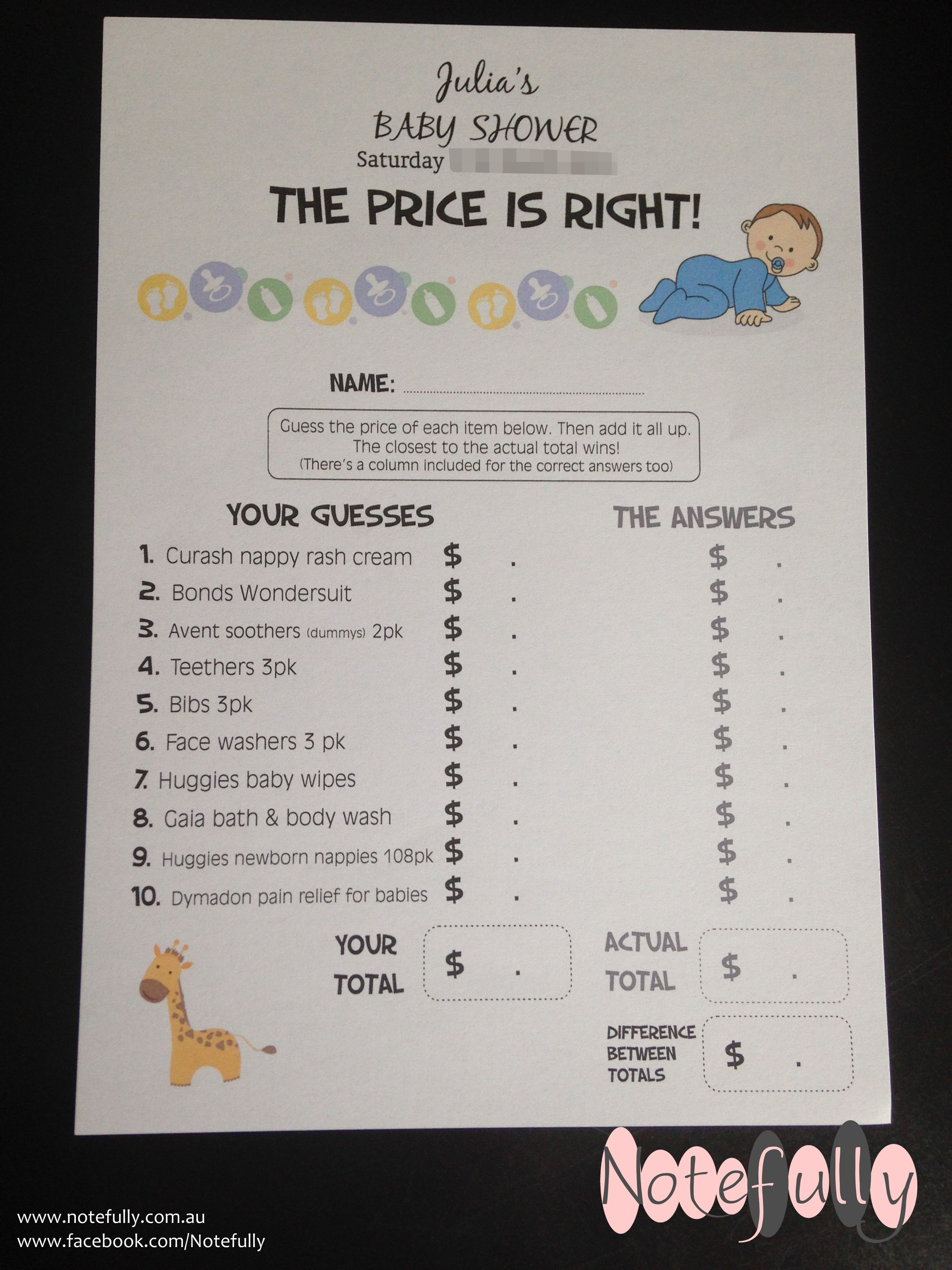 38++ Price is right baby shower game rules ideas in 2021