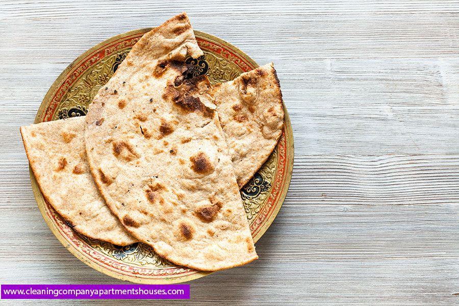 طريقة عمل الخبز الهندي بالعسل البراتا الشباتي و خبز تنور بالبيت Tandoori Roti Roti Wheat Flat Bread