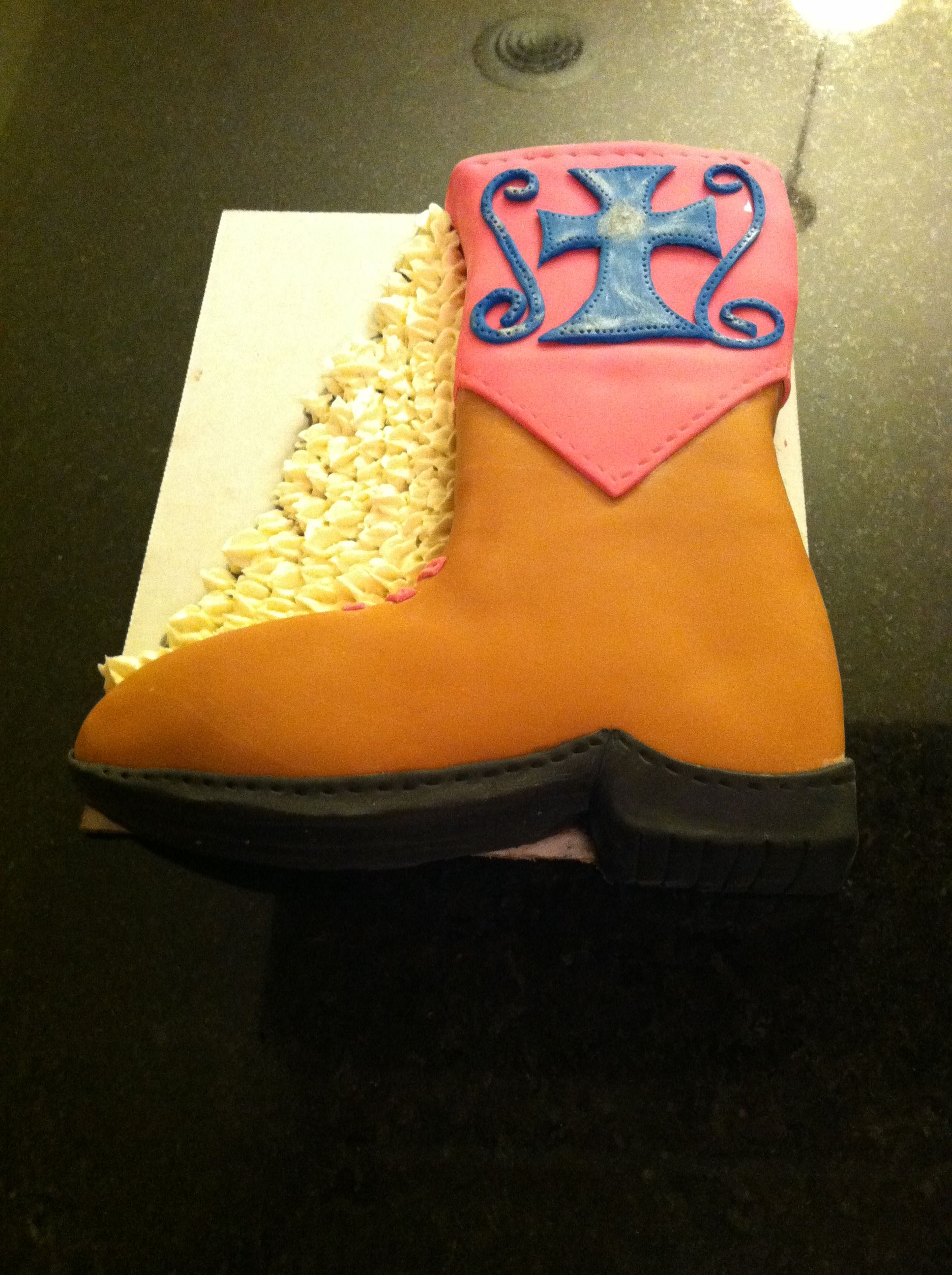 Cowgirl Boot Cake