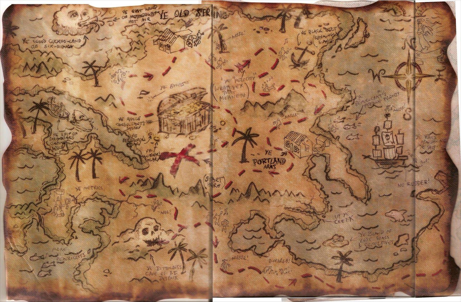 Old Treasure Map Template Old Treasure Map Template