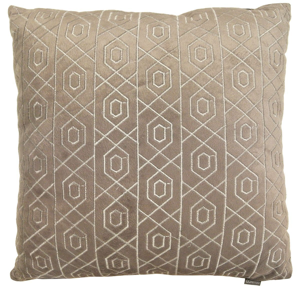 Soft velvet plush fabric embroidered throw pillow products