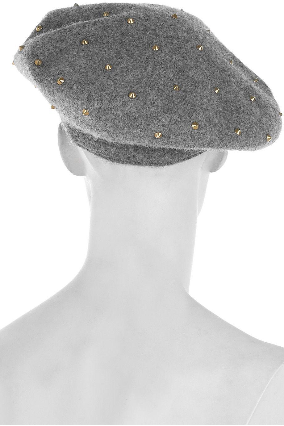 b587b494b348c DIY inspiration  Studded wool-felt beret