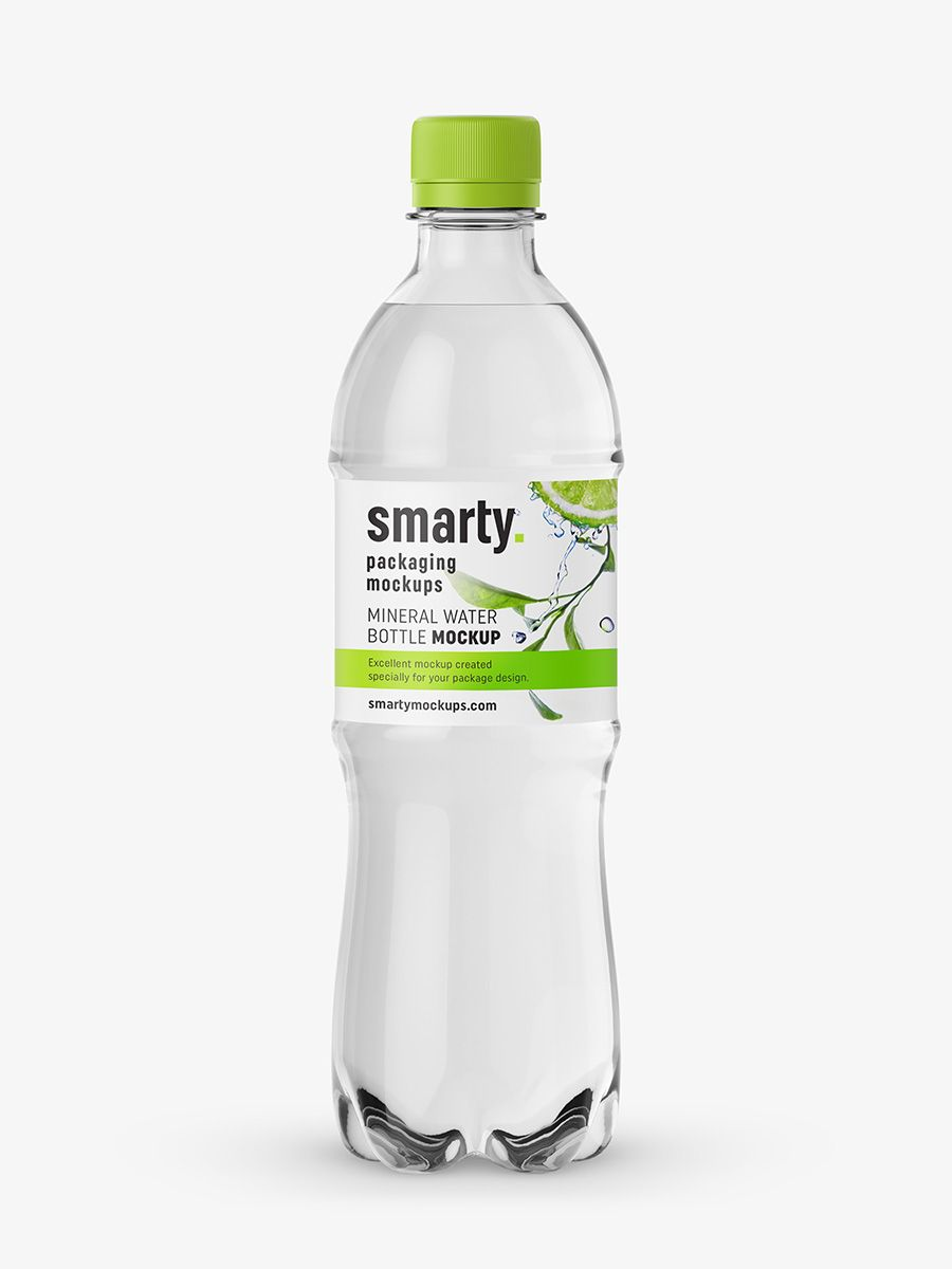 Mineral water bottle mockup food and drink mockups for Decor 500ml bottle