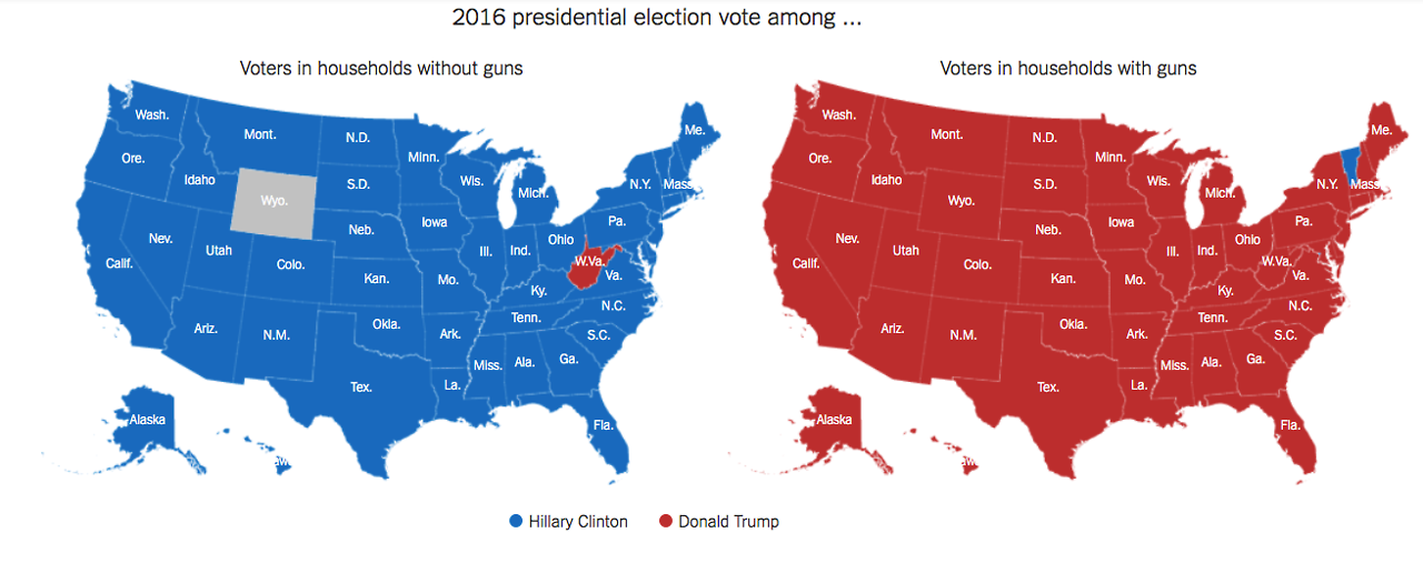 Us Map Voting Results - Blended map of the us election
