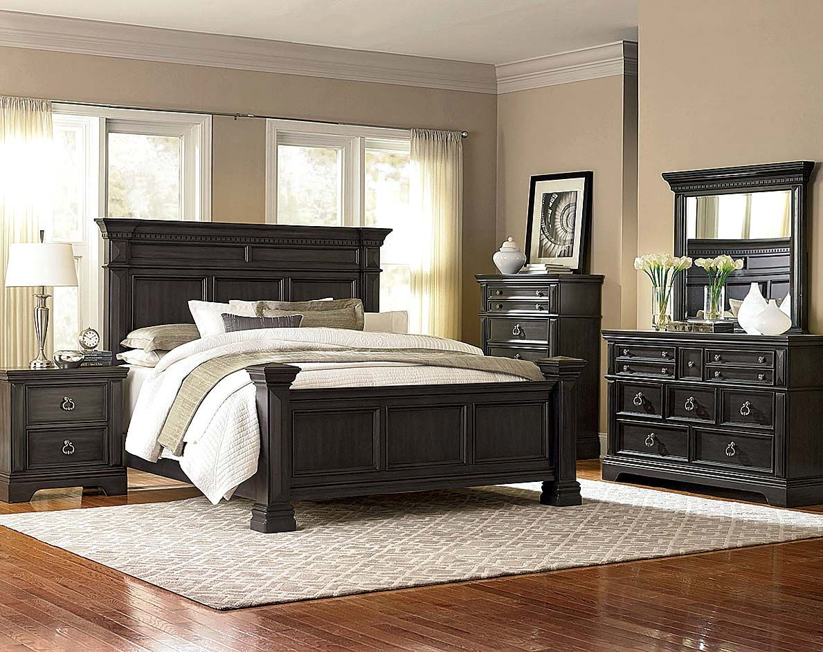 Gray modern and classic bedroom suite garrison bedroom - Contemporary king bedroom furniture ...