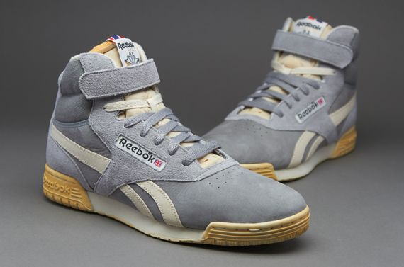 bda0e99e4610 Reebok Exofit Hi Clean Fitness - Mens Select Footwear - Flat  Grey-Paperwhite-Reebok Brass-Black