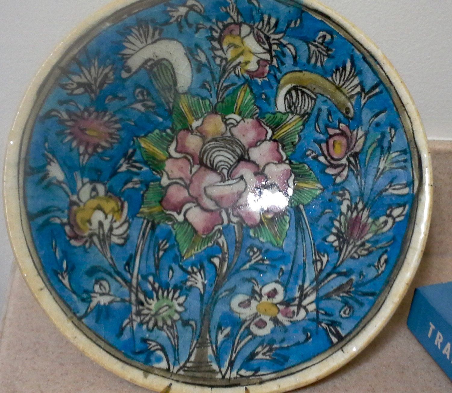 Vintage Hand Painted Ceramic Wall Art, Wall Plate, Art Plates ...