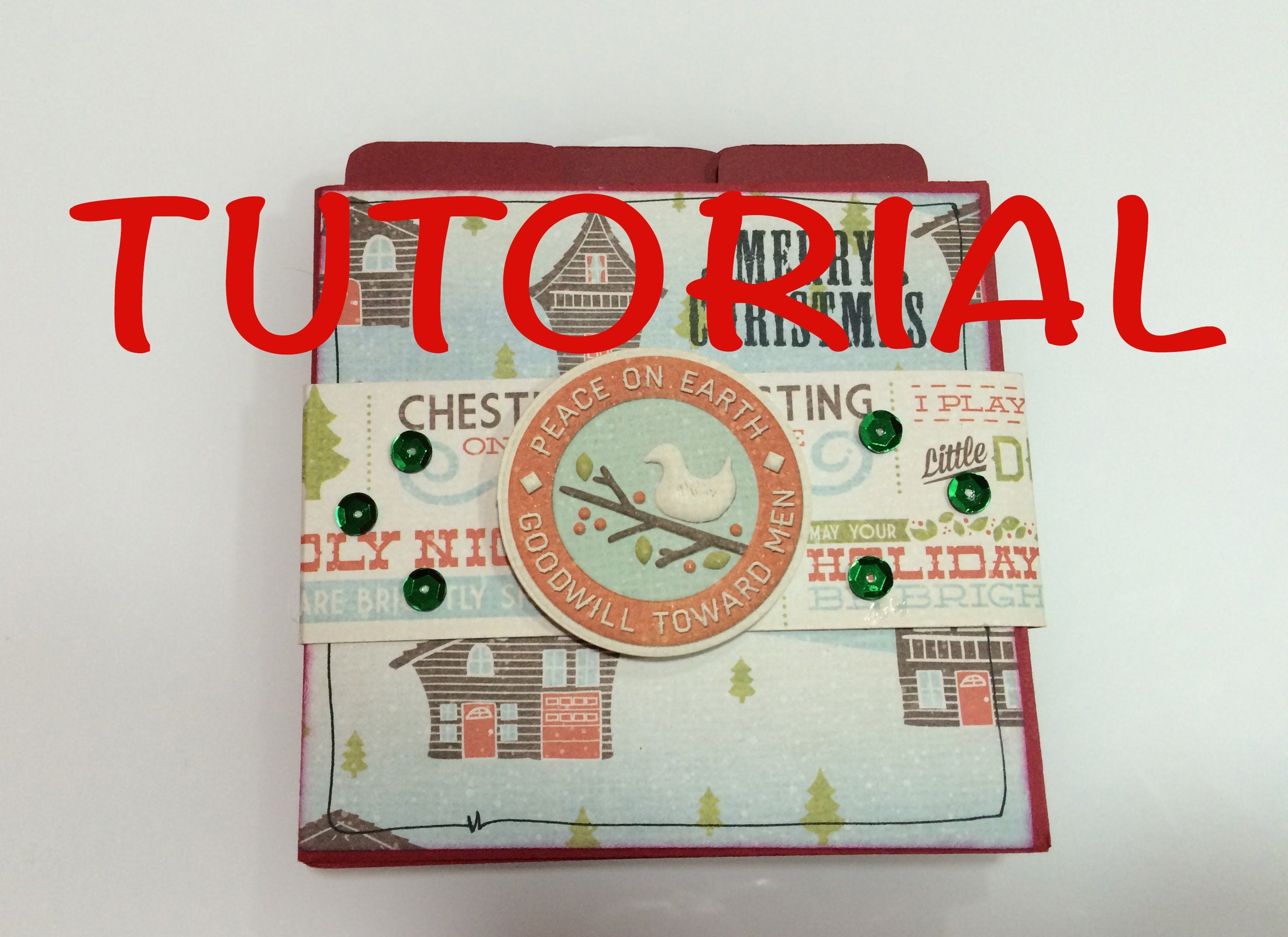 Diy Tutorial Mini Album Navidad Manualidad Facil Y Barata Idea