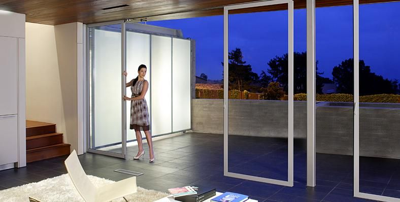 Sliding glass doors that slide into the wall google for Sliding glass wall systems