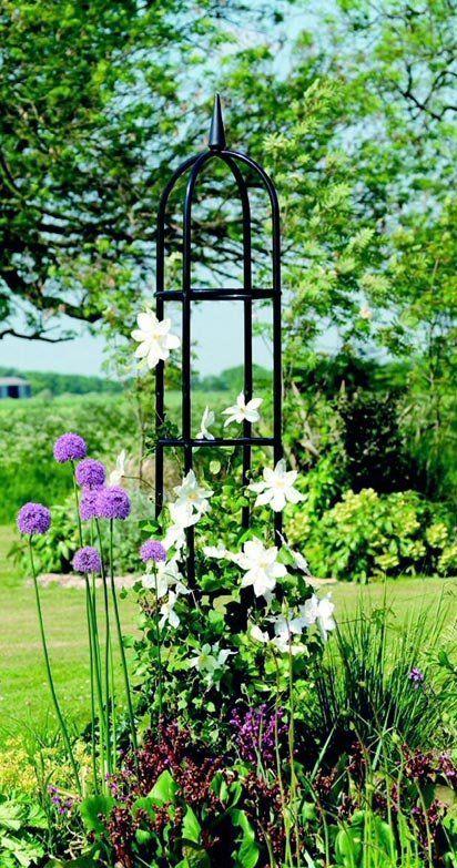 Gardman Deluxe Garden Obelisk 1 8m Diy Garden Trellis Garden Trellis Garden Obelisk