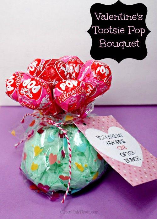 Valentine\u0027s Day Craft Sucker Bouquet w/ Printable My Creations