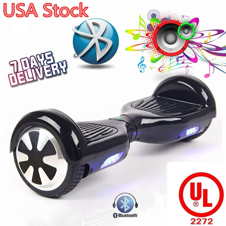 Usa Stock Ul2272 Certification Safe Best Quality For Kid 6 5 Inch Bluetooth Hoverboard Smart Self Balance Elec Bluetooth Hoverboard Electric Scooter Hoverboard