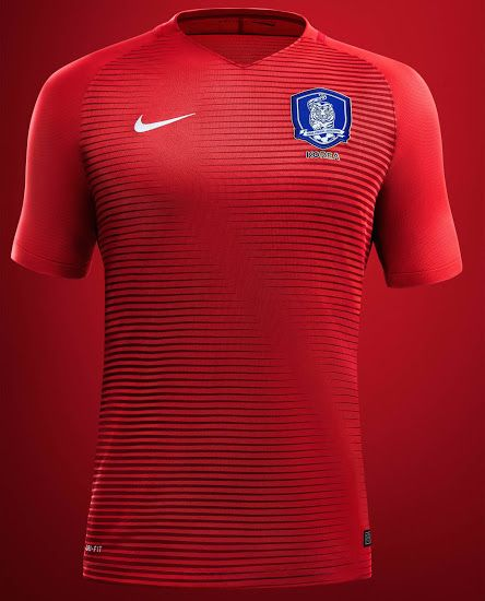 ddc96b1dc South Korea 2016 Home and Away Kits Released - Footy Headlines ...