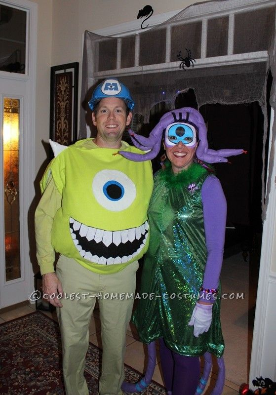 958315e70e28 Coolest DIY Mike Wazowski and Celia Mae Costumes... This website is the  Pinterest of costumes