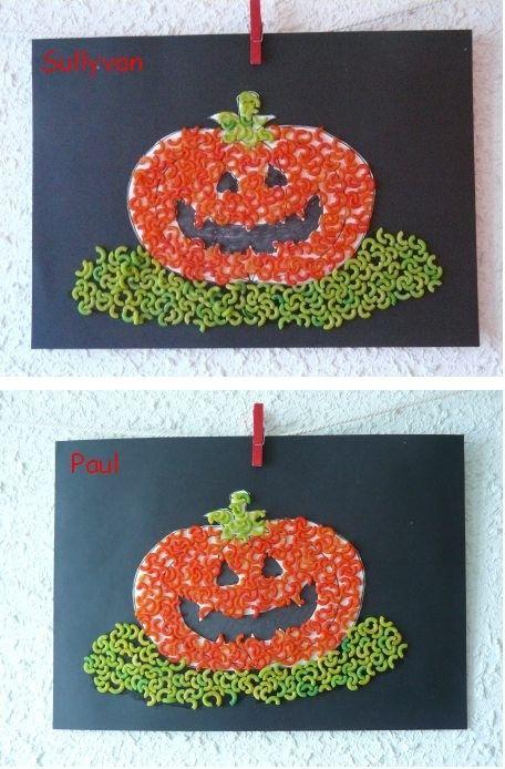 Tableau Citrouilles En Coquillettes Activit S P Tes Pinterest Coquillettes Tableau Et