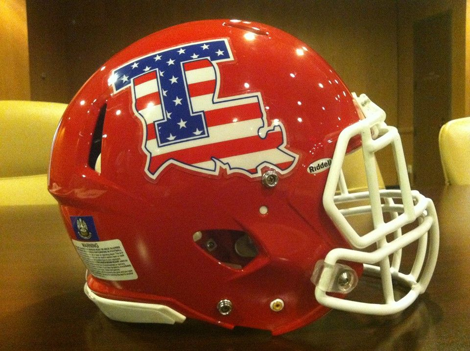 Louisiana Tech helmet for the Heart of Dallas Classic