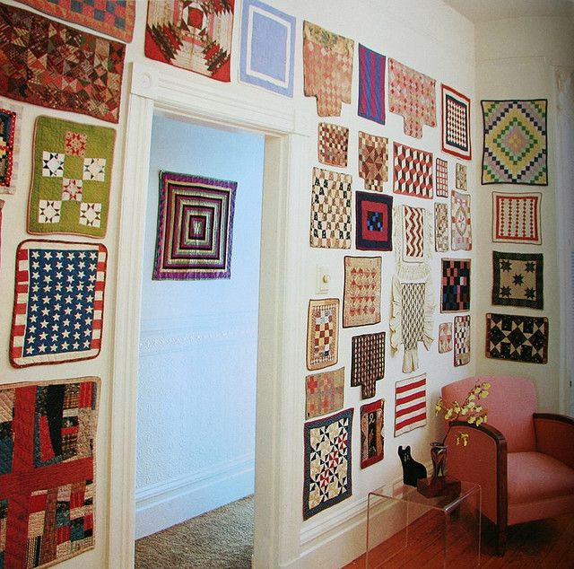 wall of doll quilts from Collecting American Country by M.E. Emmerling