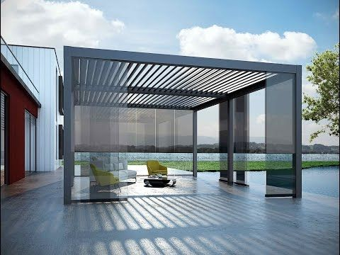 Suntech aerolux bioclimatic pergola and roof systems for Pergola alu toile retractable