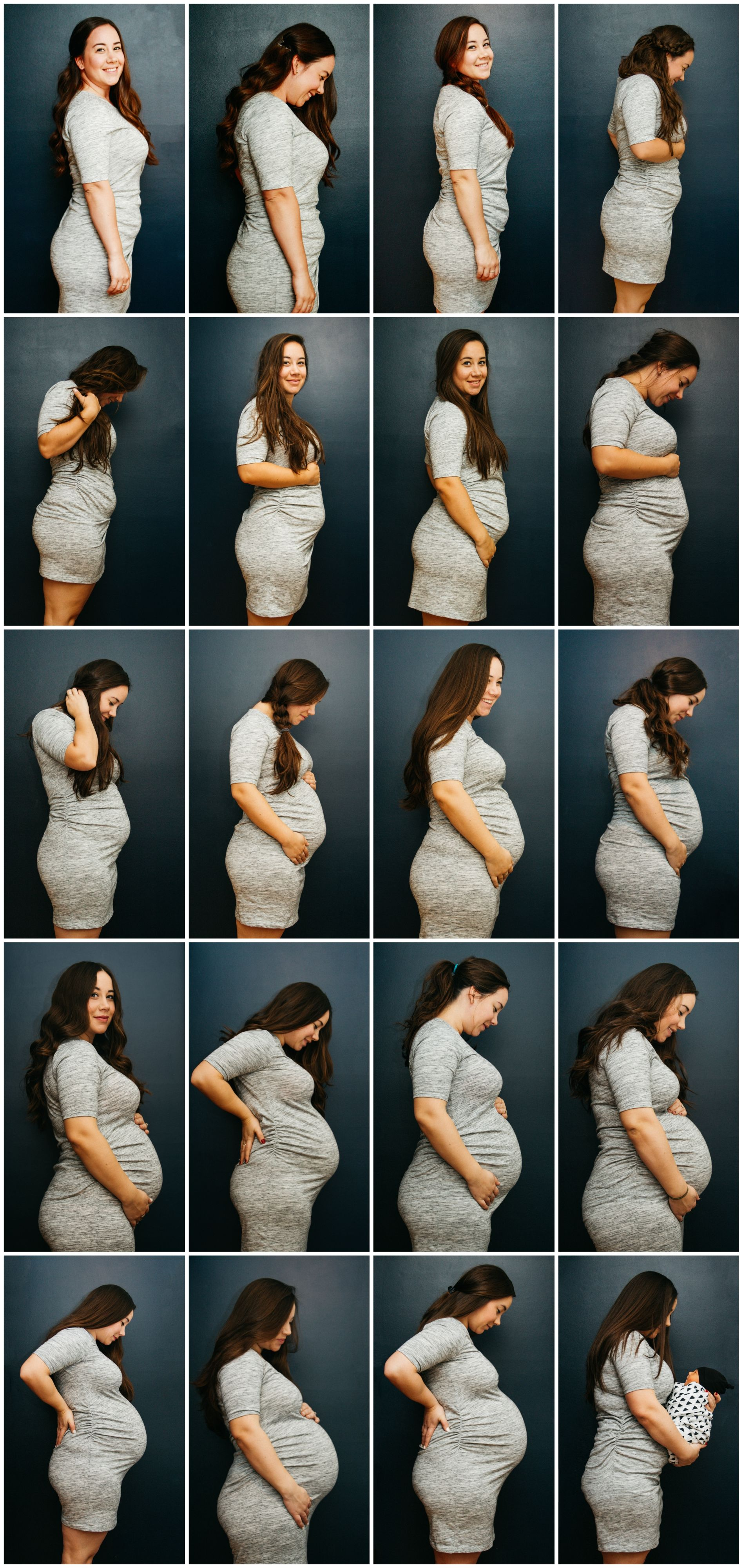 Baby belly progression photo / week by week belly photo