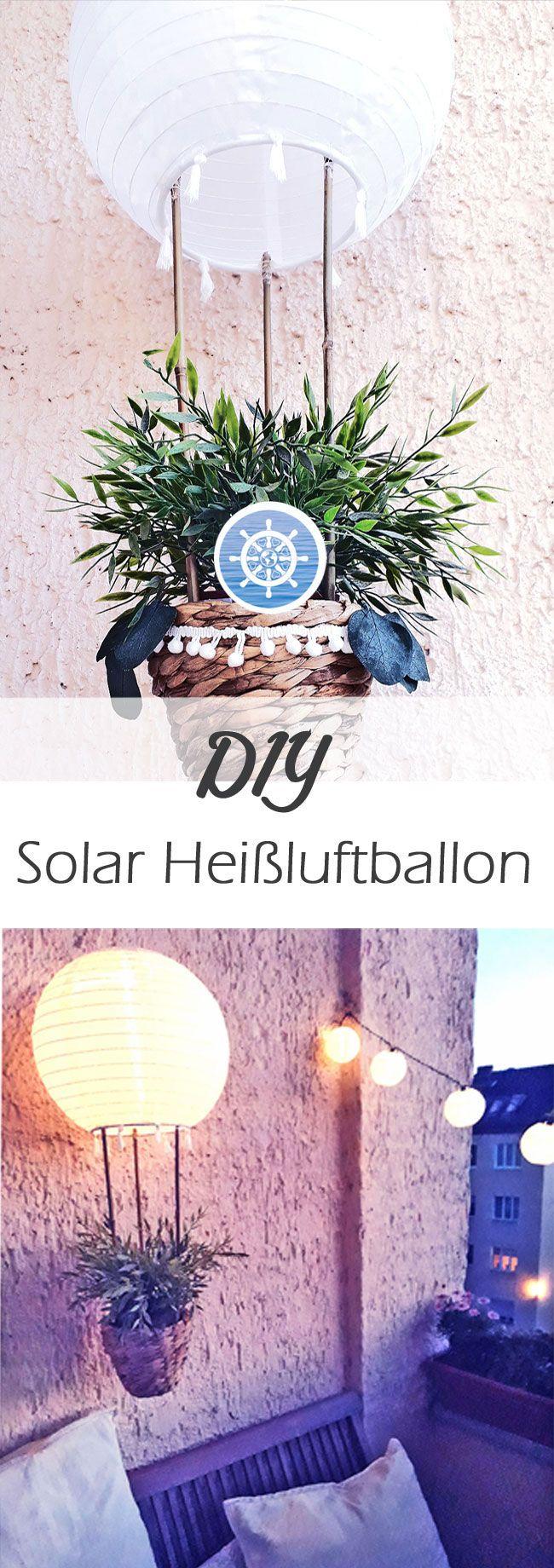 diy hei luftballon als solar lampion der deinen balkon. Black Bedroom Furniture Sets. Home Design Ideas