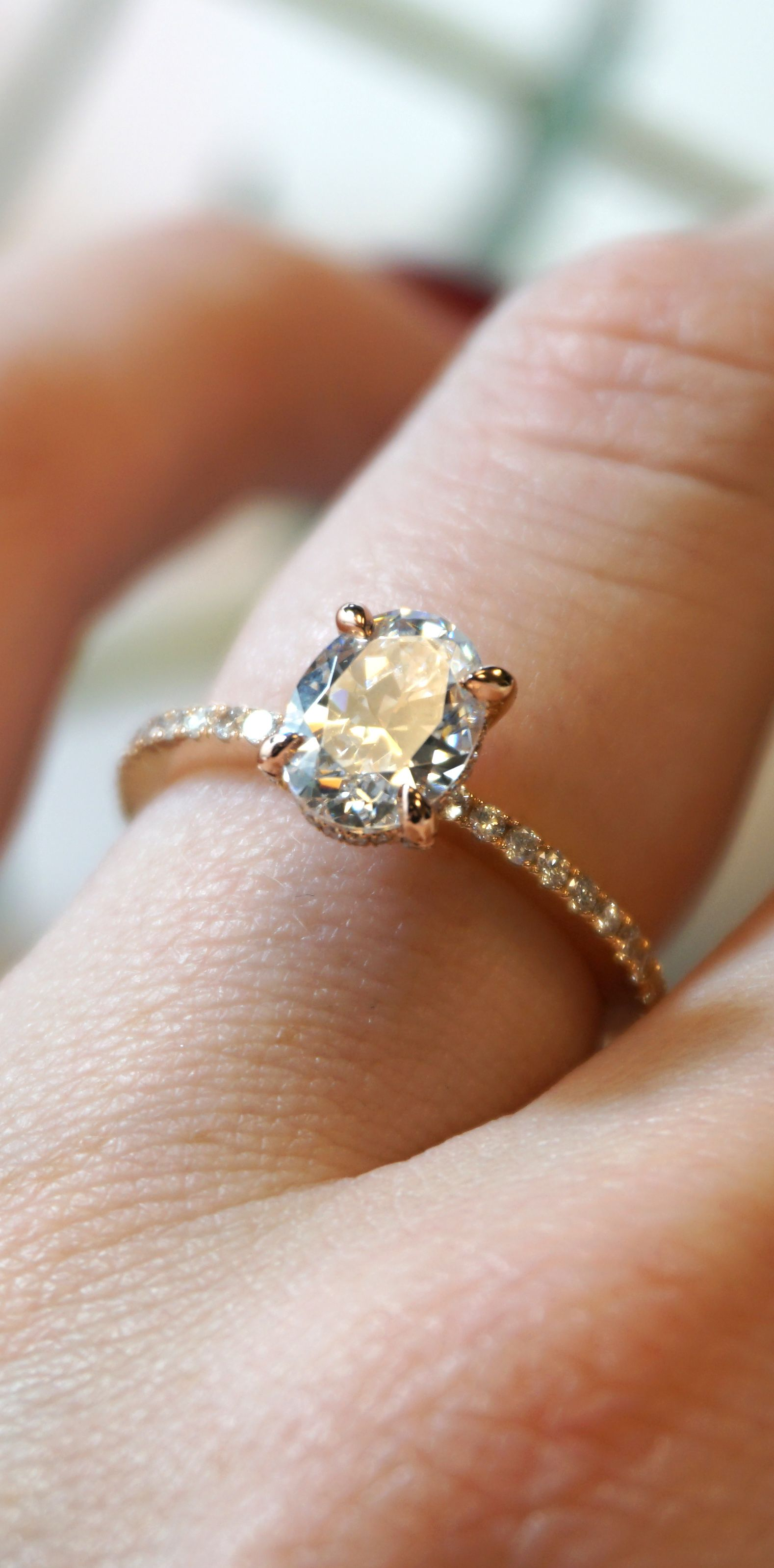 Classic, Simple, Beautiful  Custom Rose Gold Oval Diamond Engagement Ring   Joseph Jewelry