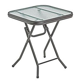 16 Square Glass Top Folding Table Folding Table Table Glass Top