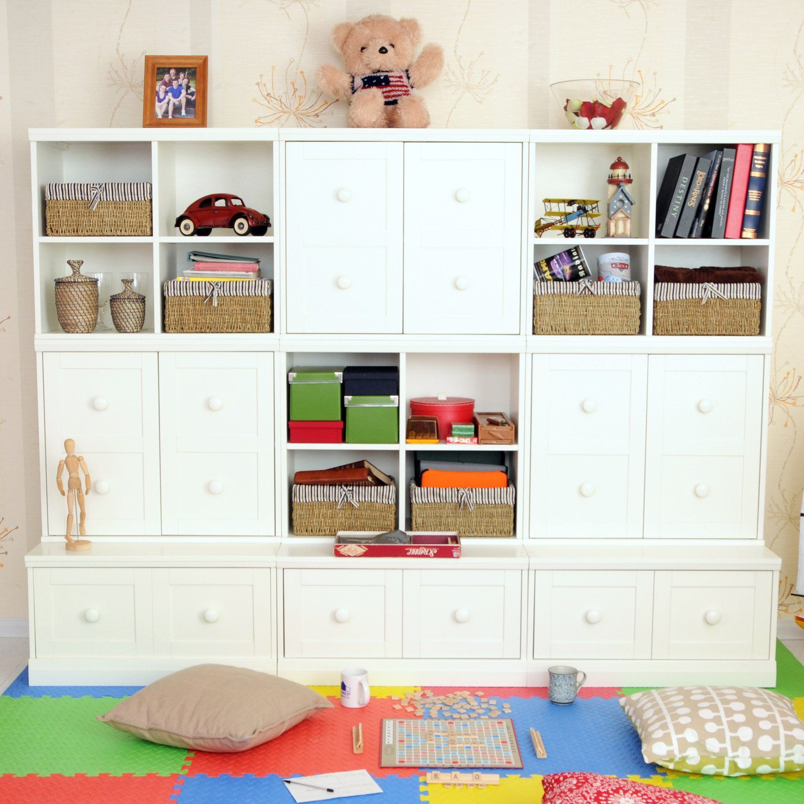 Makena Modular Closed Storage Base & Open Quad Cubical & Cabinet ...