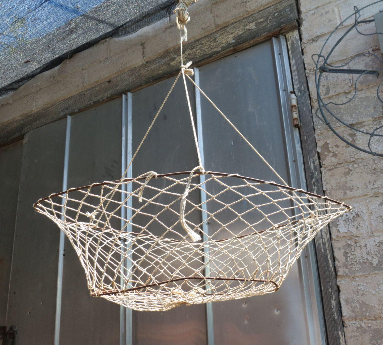 Decorative Fish Netting Vintage Fishing Crab And Fish Net O Rustic Nautical Decor