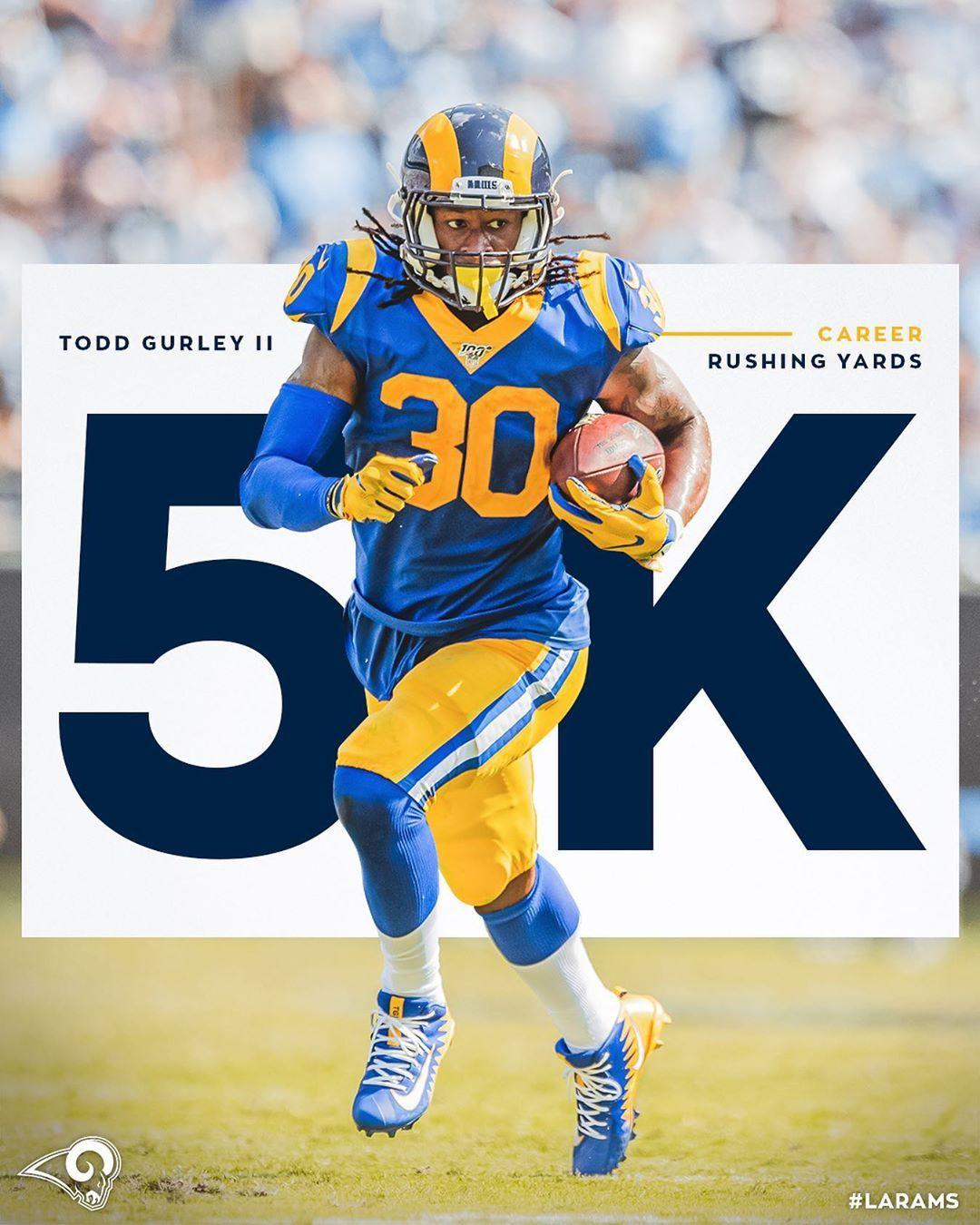 Los Angeles Rams On Instagram 5 000 Career Rushing Yards Congrats Tg4hunnid Los Angeles Rams La Rams Los Angeles