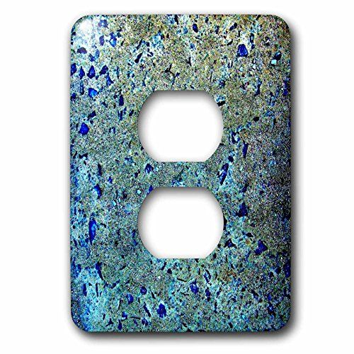 Costasonlineshop Background - Blue Glitter Stones -  Blue Glitter Stones Light Switch Cover is made of durable scratch resistant metal that will not fade, chip or peel. Featuring a high gloss finish, along with matching screws makes this cover the perfect finishing touch.