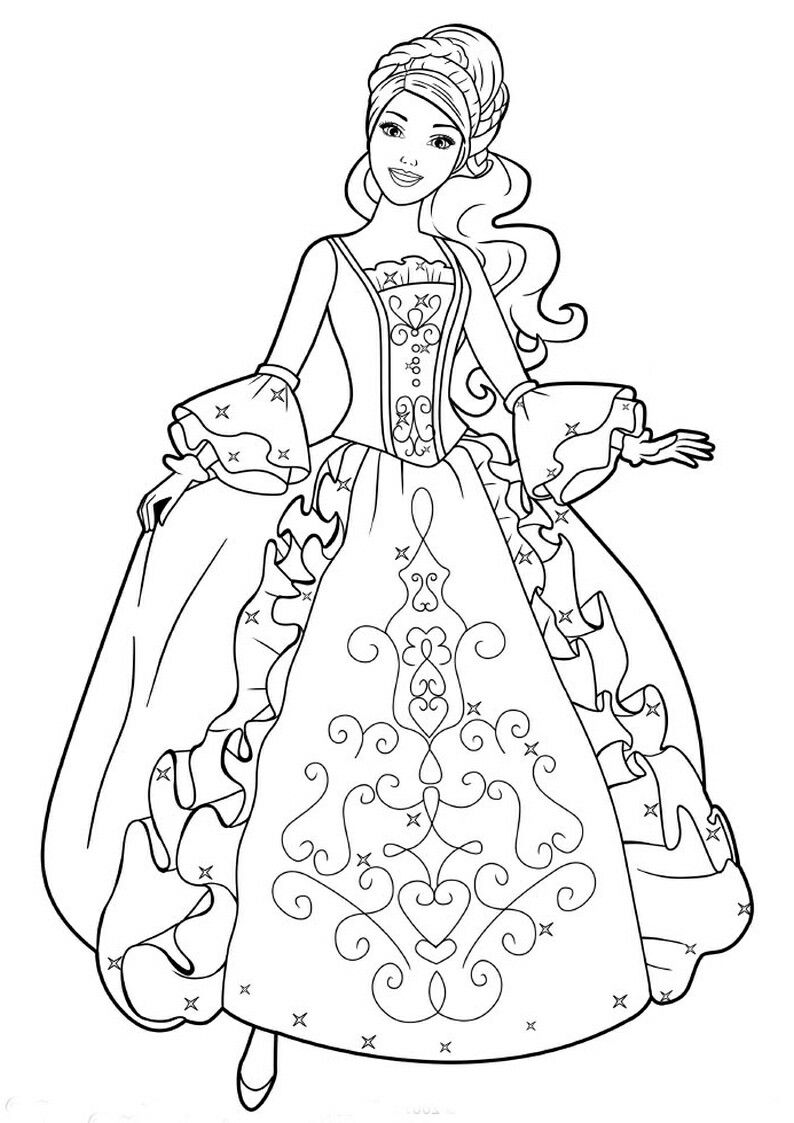 Pin By Pam Vallquist On Barbie Coloring Barbie Coloring Barbie Coloring Pages Cartoon Coloring Pages