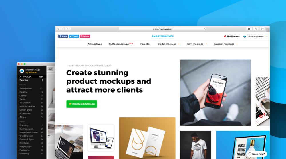 Create Stunning Products Screenshots Without Photoshop Business Card Mock Up Mockup Generator Free Mockup