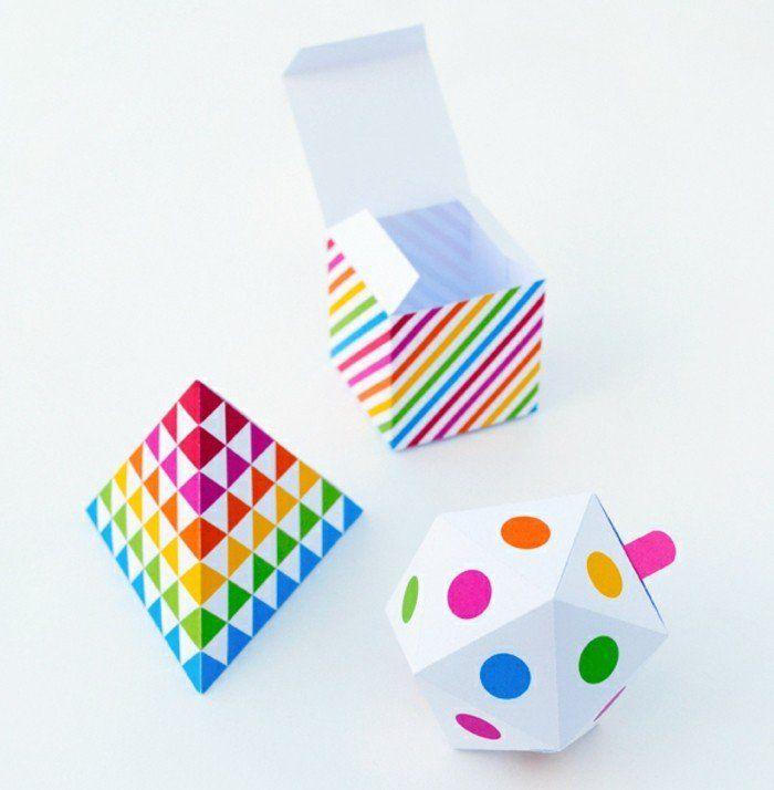 1001 id es comment faire une bo te en papier comment faire formes geometrique et bo tes en. Black Bedroom Furniture Sets. Home Design Ideas