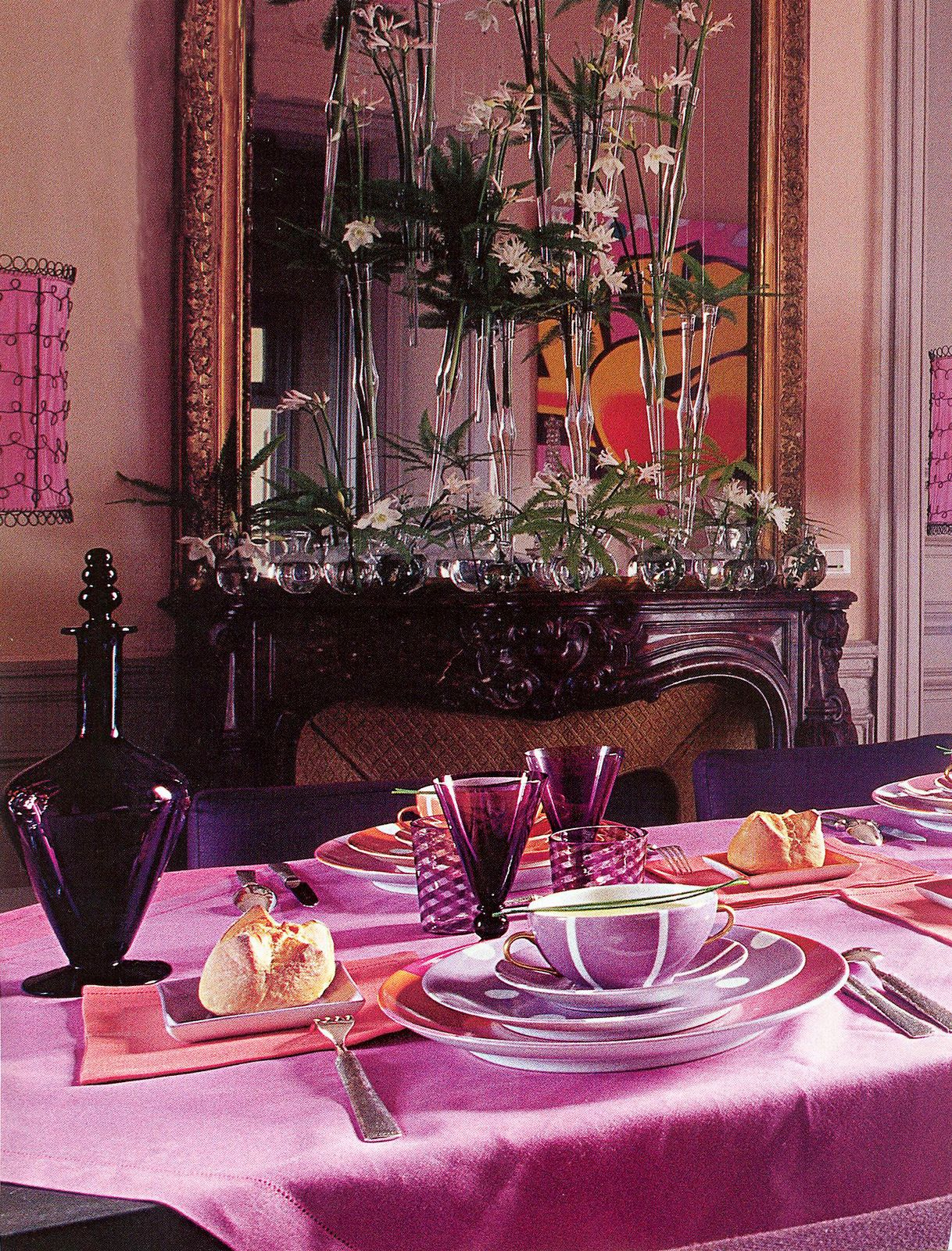 Romantic Dining Room: This Romantic Dining Room Has A Beautiful Color Palette. A