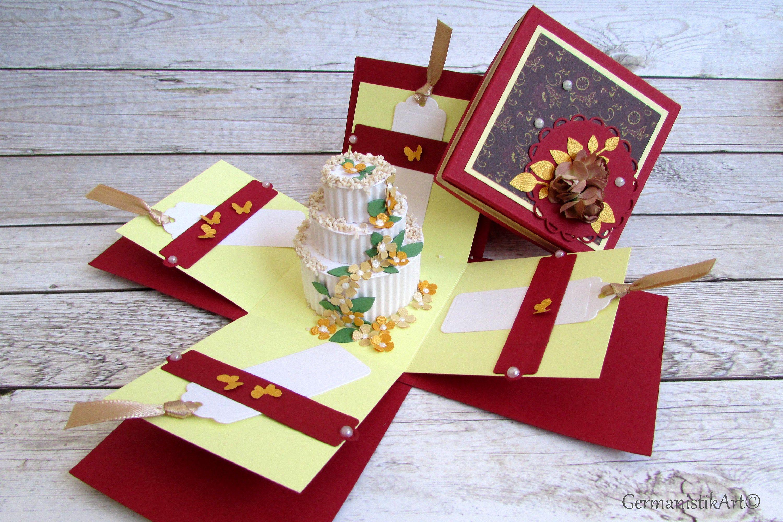 Happy Birthday Explosion Box 3d Pop Up Card Luxury Greeting Mummy 50th Birthday Card Box 5 In 2021 Birthday Card Pop Up Birthday Cards For Mom Birthday Explosion Box