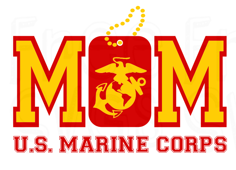 Free Marine Mom SVG File Marine mom, Military mom, Usmc mom