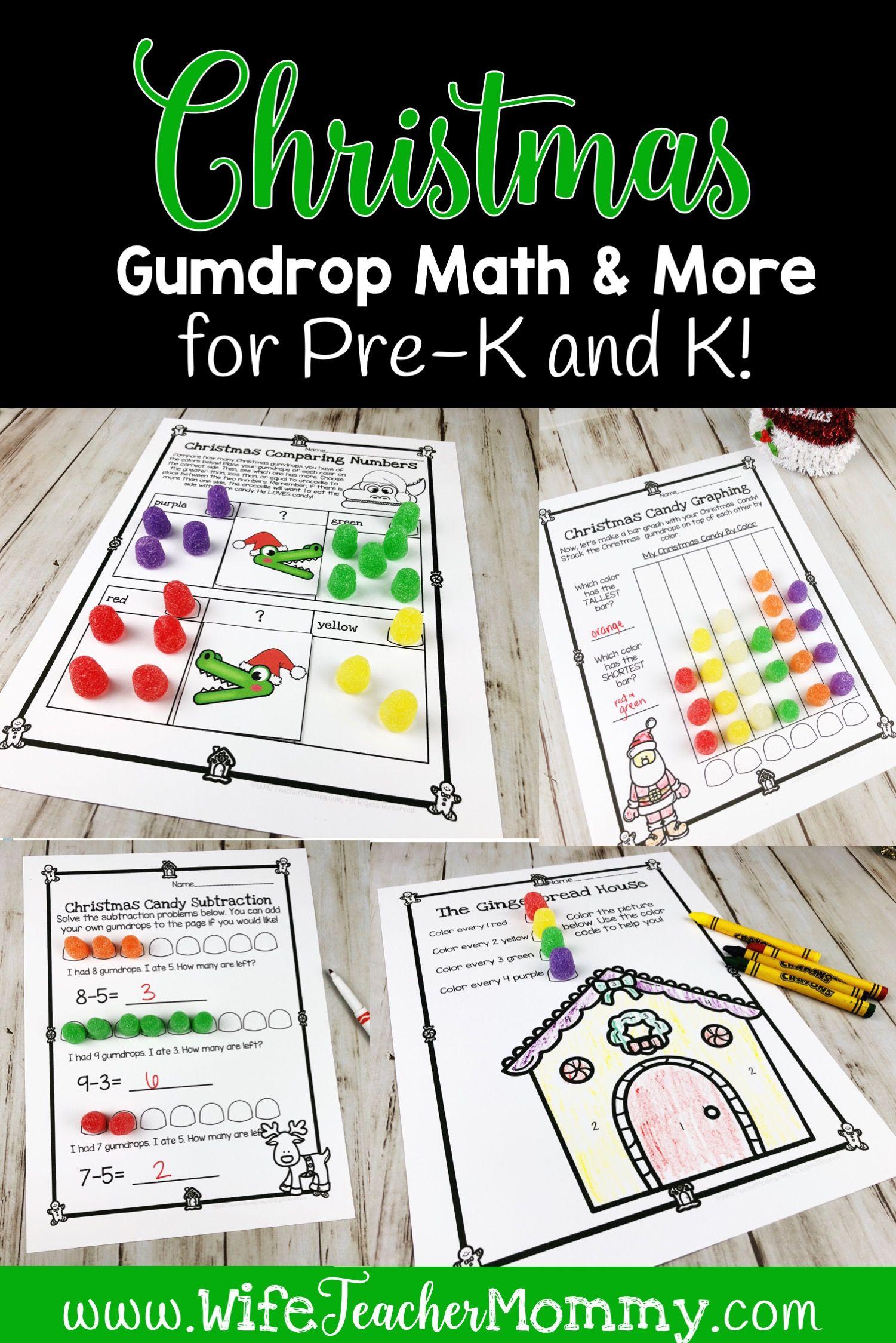 Christmas Gumdrop Math Activities Amp More For Kindergarten