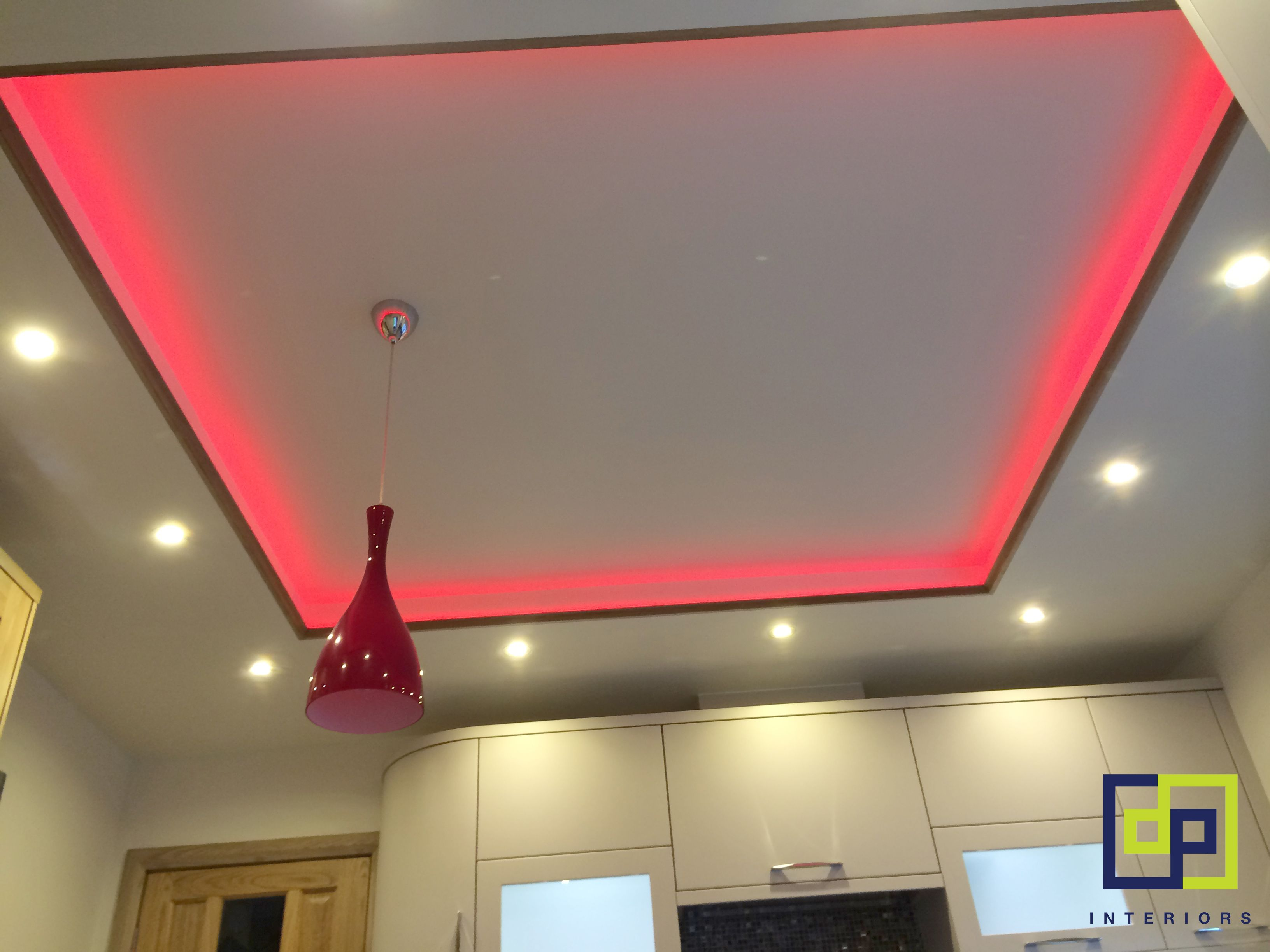 High gloss kitchen with ceiling light feature you can change high gloss kitchen with ceiling light feature you can change colour to suit your mozeypictures Images