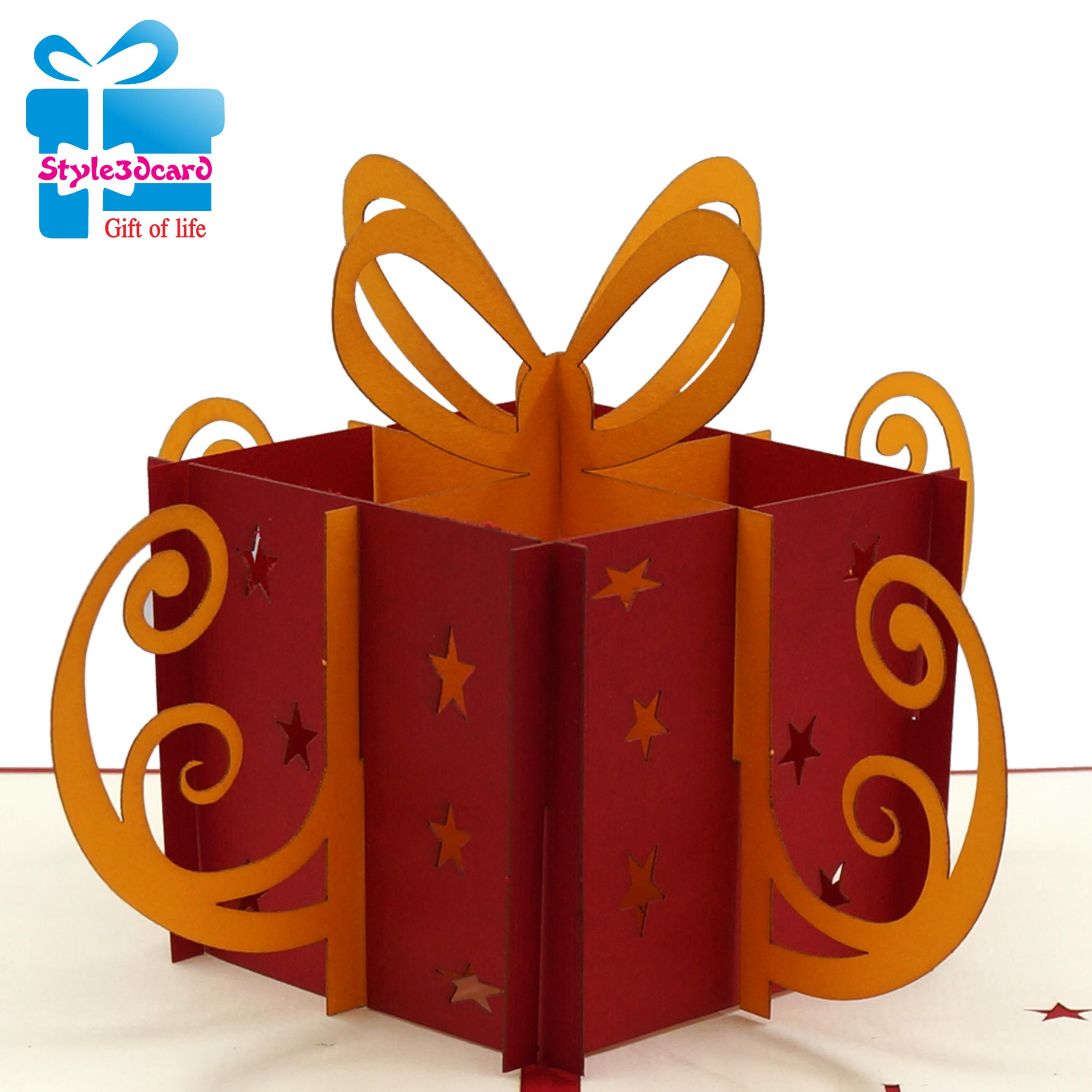 Birthday Gift Box 3d Pop Up Cards 3d Popup Cards Style3dcard