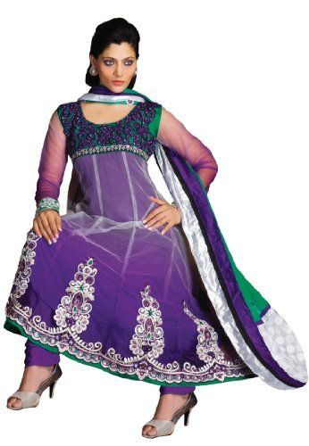 Fabdeal Women's Indian Designer Wear Embroidered Salwar Violet Fabdeal, http://www.amazon.de/dp/B00GD6E5W4/ref=cm_sw_r_pi_dp_469otb07Y716A