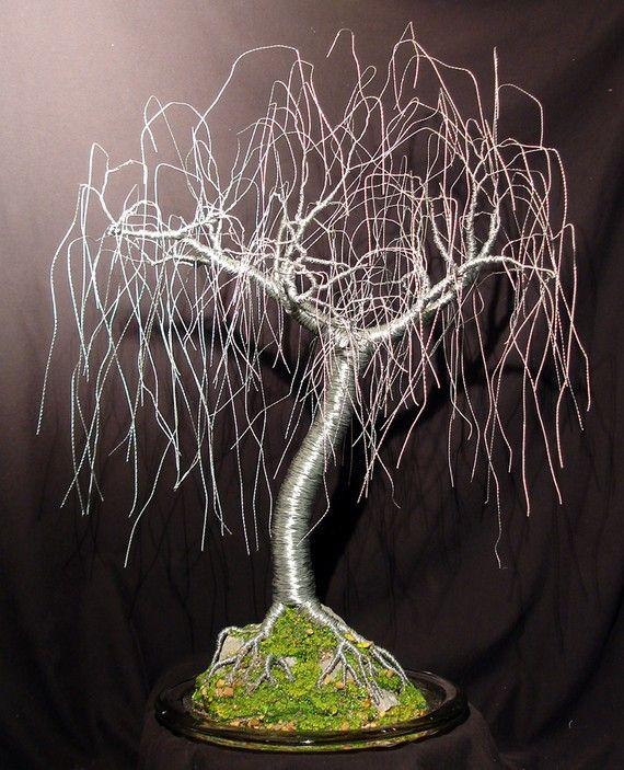 Gentle Willow - wire tree sculpture, Original | Bastelarbeiten ...