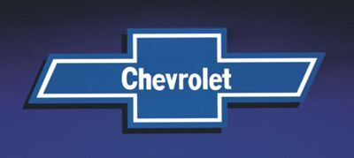 Chevrolet bowtie logo, as it appeared in 1977-1979 print advertising.