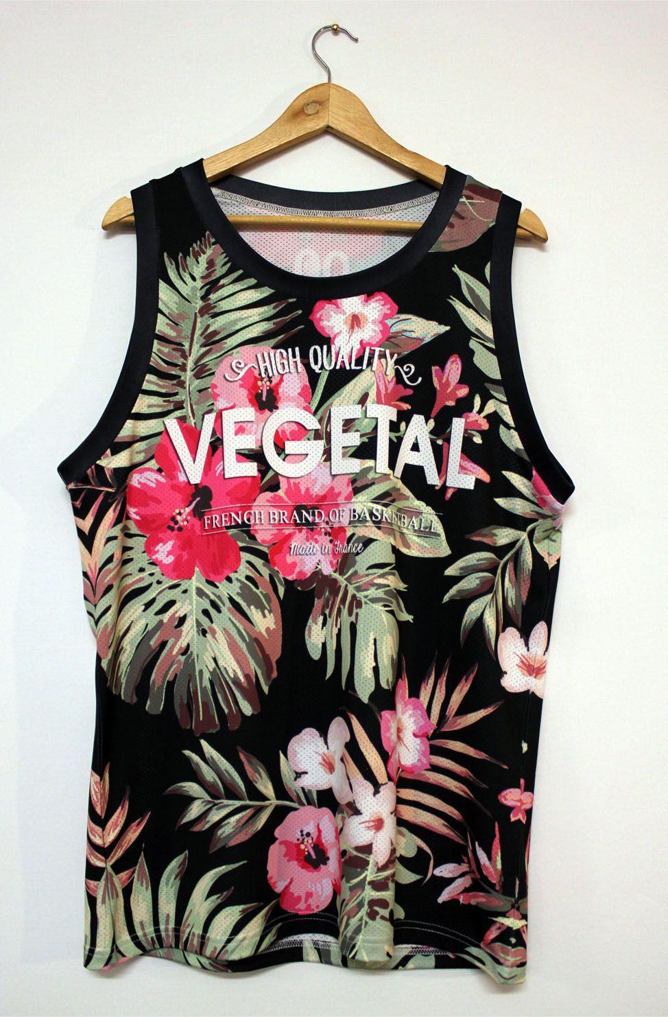 9a693d86246 Basketball Jerseys Floral black Man Vegetal00