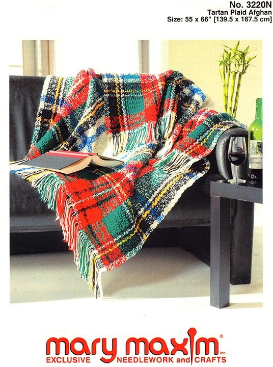 Crochet a tartan afghan using this pattern. | Crochet Crochet ...
